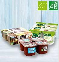 Yaourt bio , Dessert bio , Compote bio