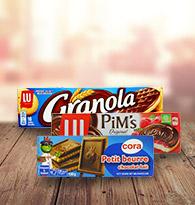 Biscuits nappés chocolat