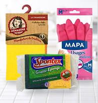 Eponges, lavettes et gants