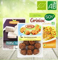 Tofu, spécialités végétales..