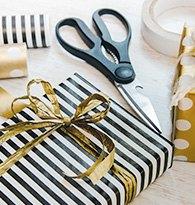 Papier cadeaux et accessoires de fêtes