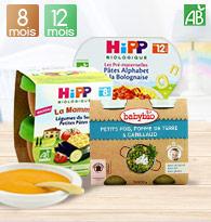 Assiettes et petits pots 8 à 12 mois