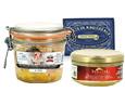 Foie gras, terrine, conserve de poisson
