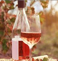 Vins rosés en bouteilles