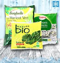 Légumes Nature, Brut surgelés