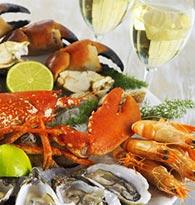 Avec les fruits de mer