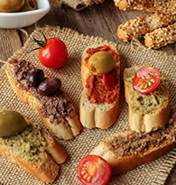 Gressins, Antipasti, olives