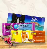 Alimentation pour chats en boites