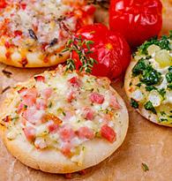 Les Mini Pizzas, les Individuelles
