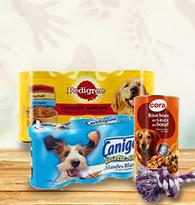 Alimentation pour chien en boite