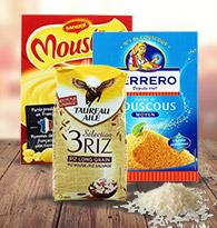 Riz, purée et céréales