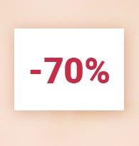 Moins 70%
