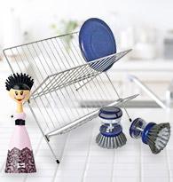 Egoutoir à vaisselle, brosse