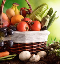 Colis de légumes