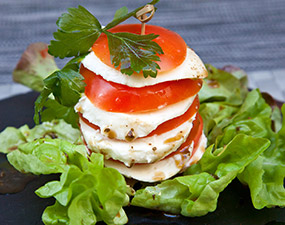 Millefeuille tomate/mozza