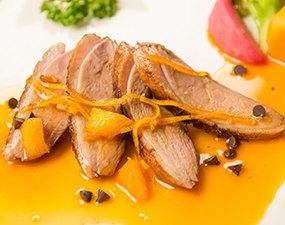 Canard rôti cannelle-orange