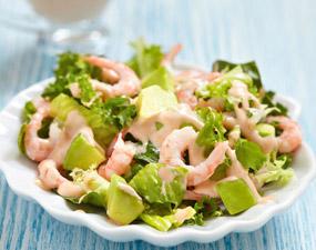 Salade avocat crevettes